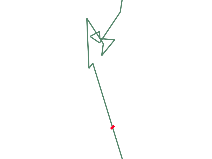 self overlapping lines are splitted by itself and the
