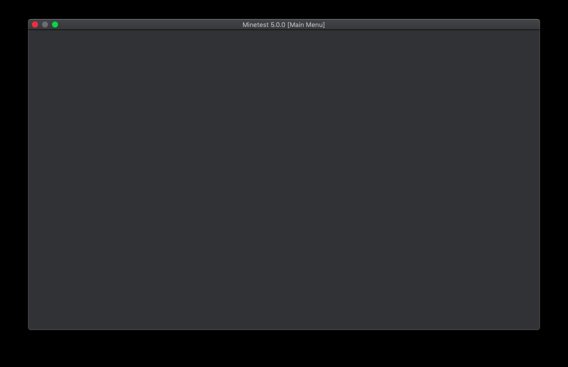 macOS Mojave: Black Screen · Issue #8365 · minetest/minetest