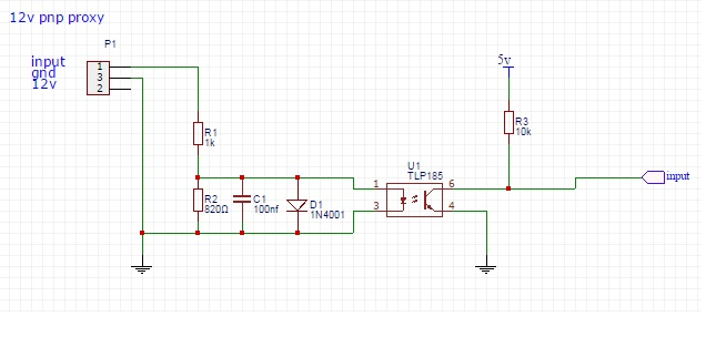 i have knocked up a quick schematic for the input, not sure whats meant by