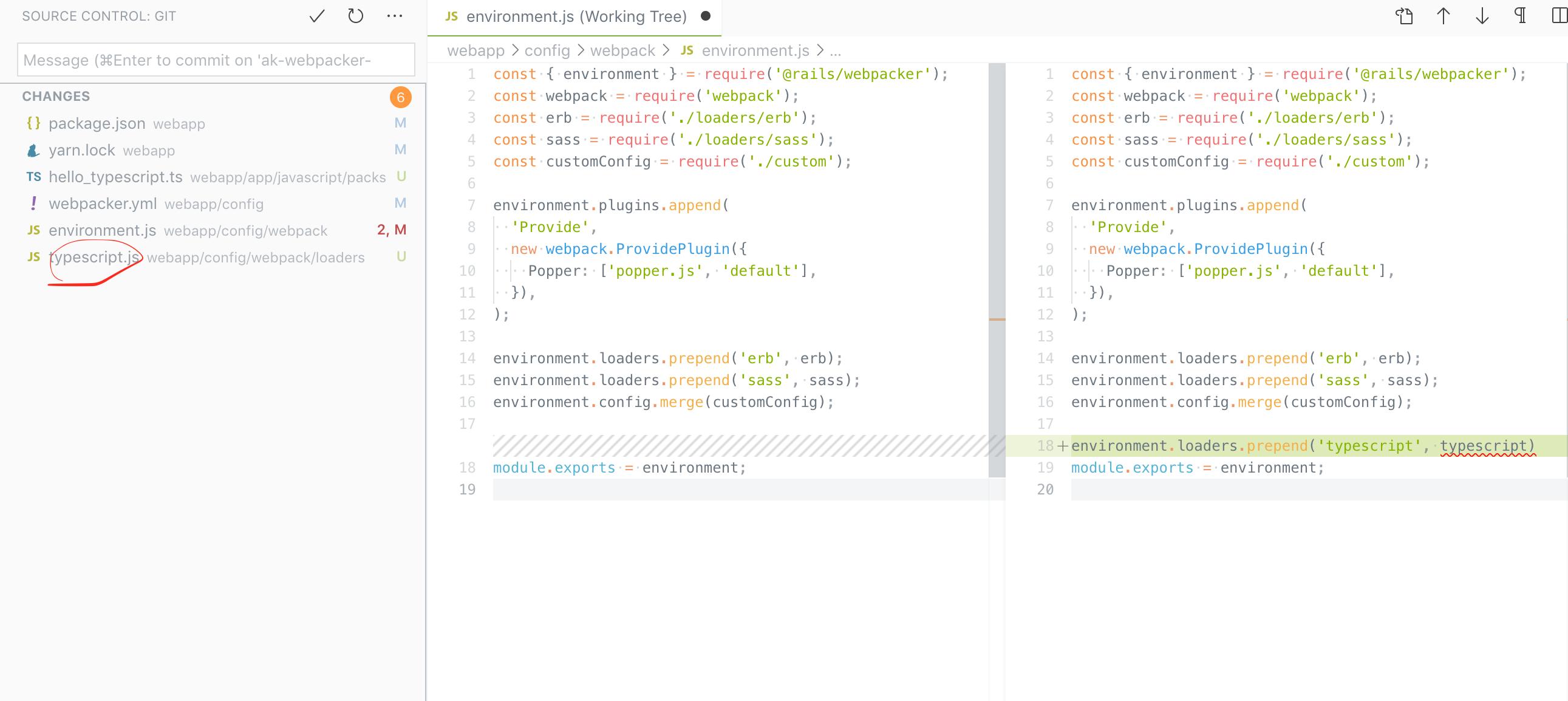 bundle exec rails webpacker:install:typescript creates an