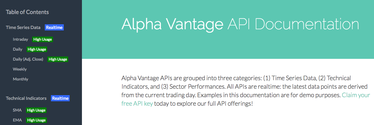 Alpha Vantage API Review · Issue #13 · RomelTorres