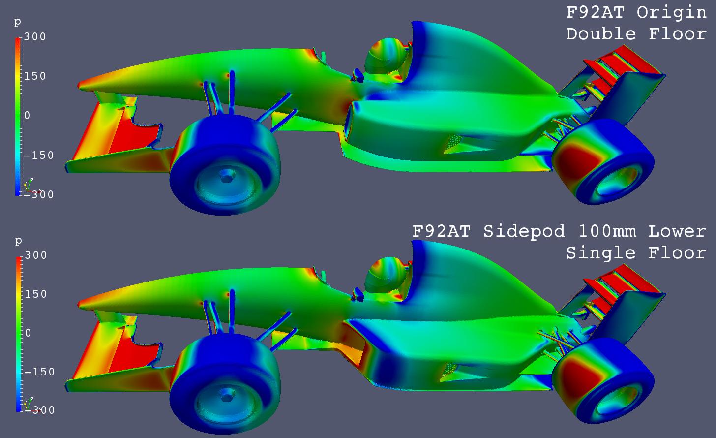 f92at_cfd_single-double-floor_pressure-comparison_upper-left-view