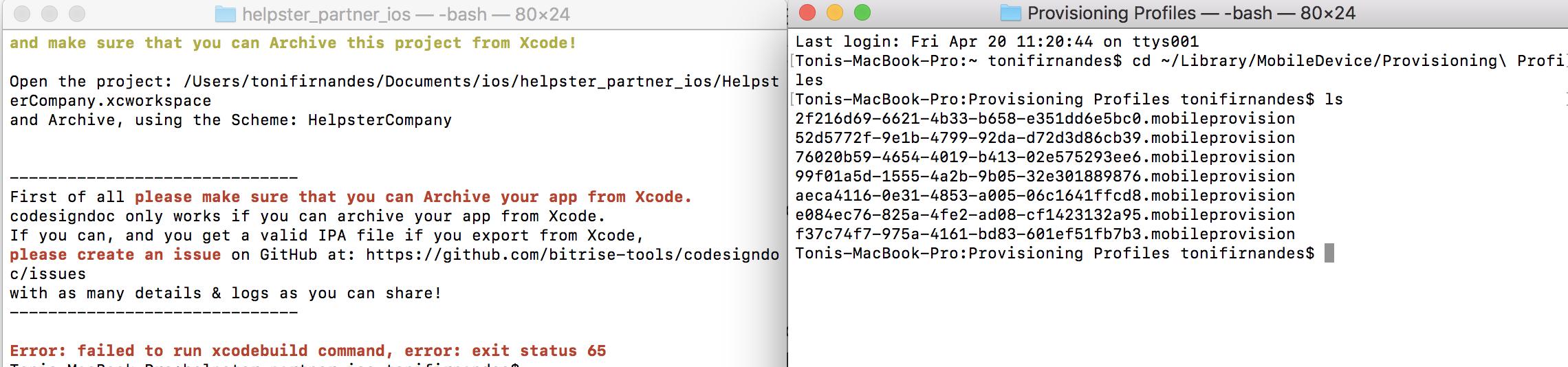 Xcodebuild Archive