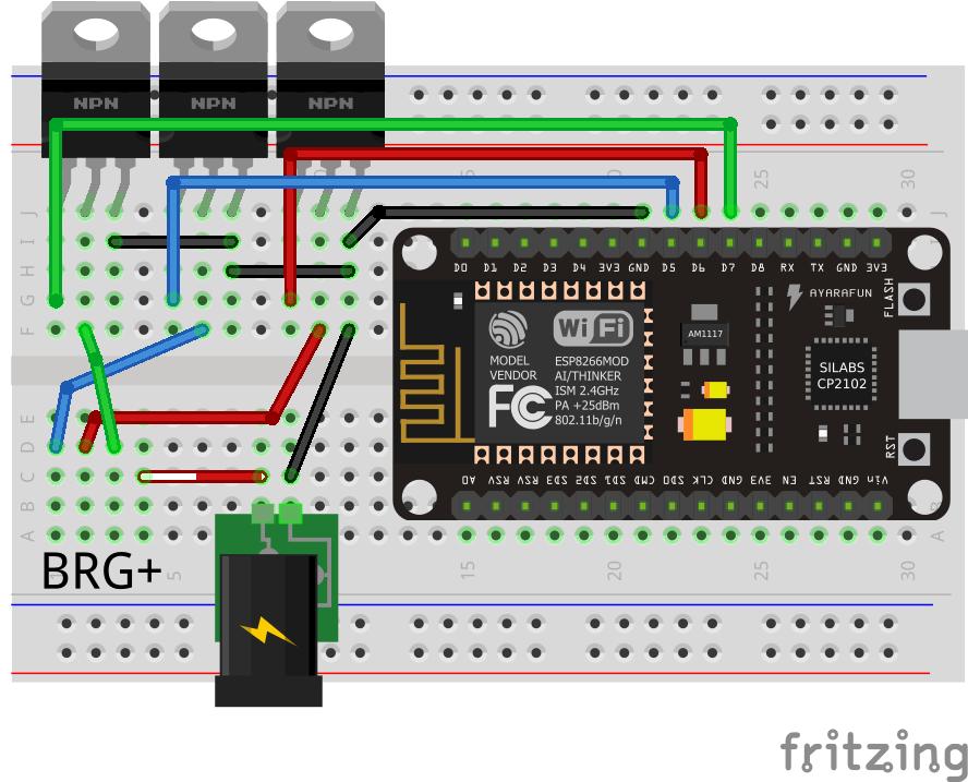 rgb led strip control · issue 63 · mariusmotea diyhue · githubuntitled sketch_steckplatine