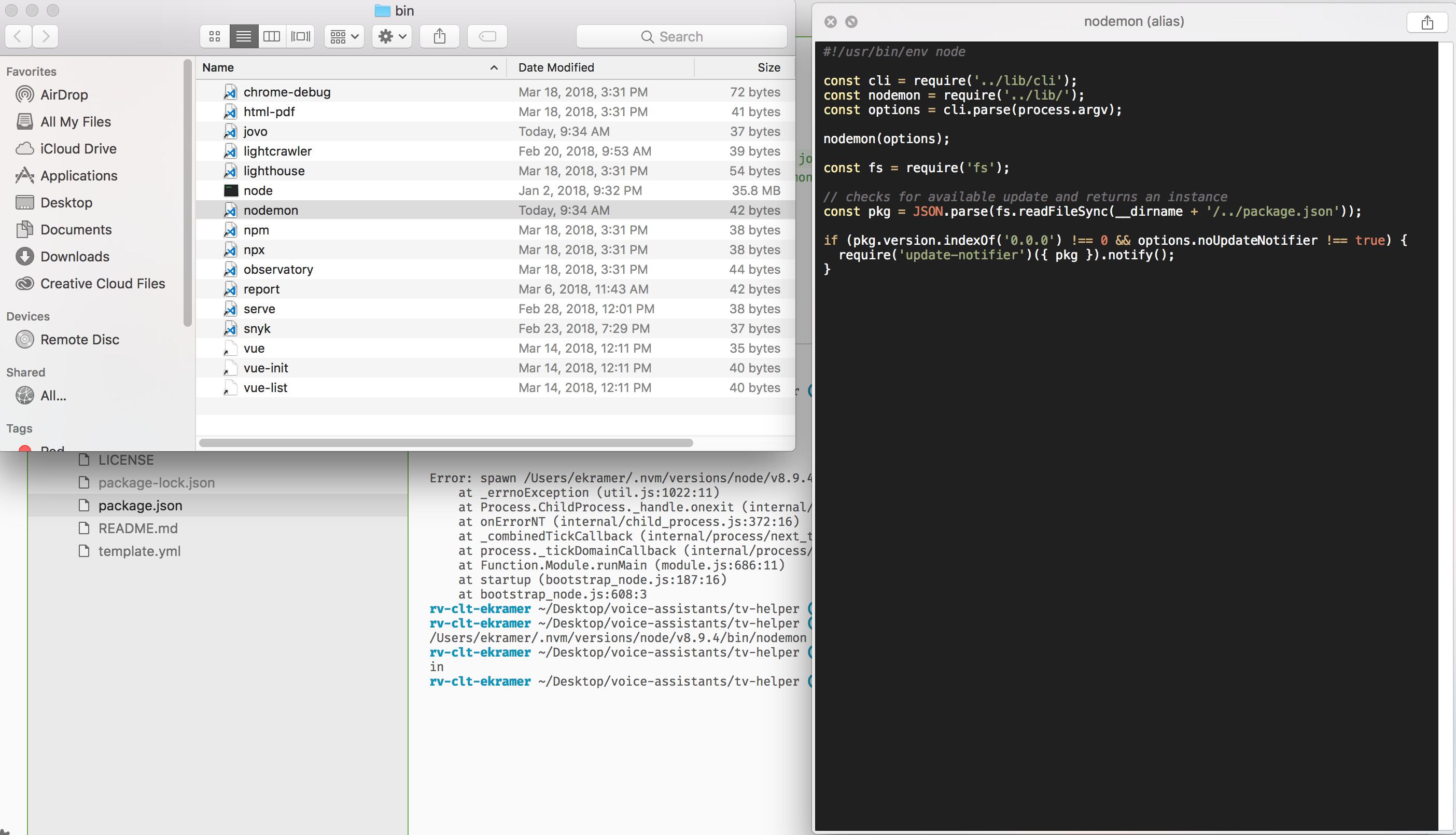 Can't run 'jovo run --watch' using 'npm run dev' · Issue #112
