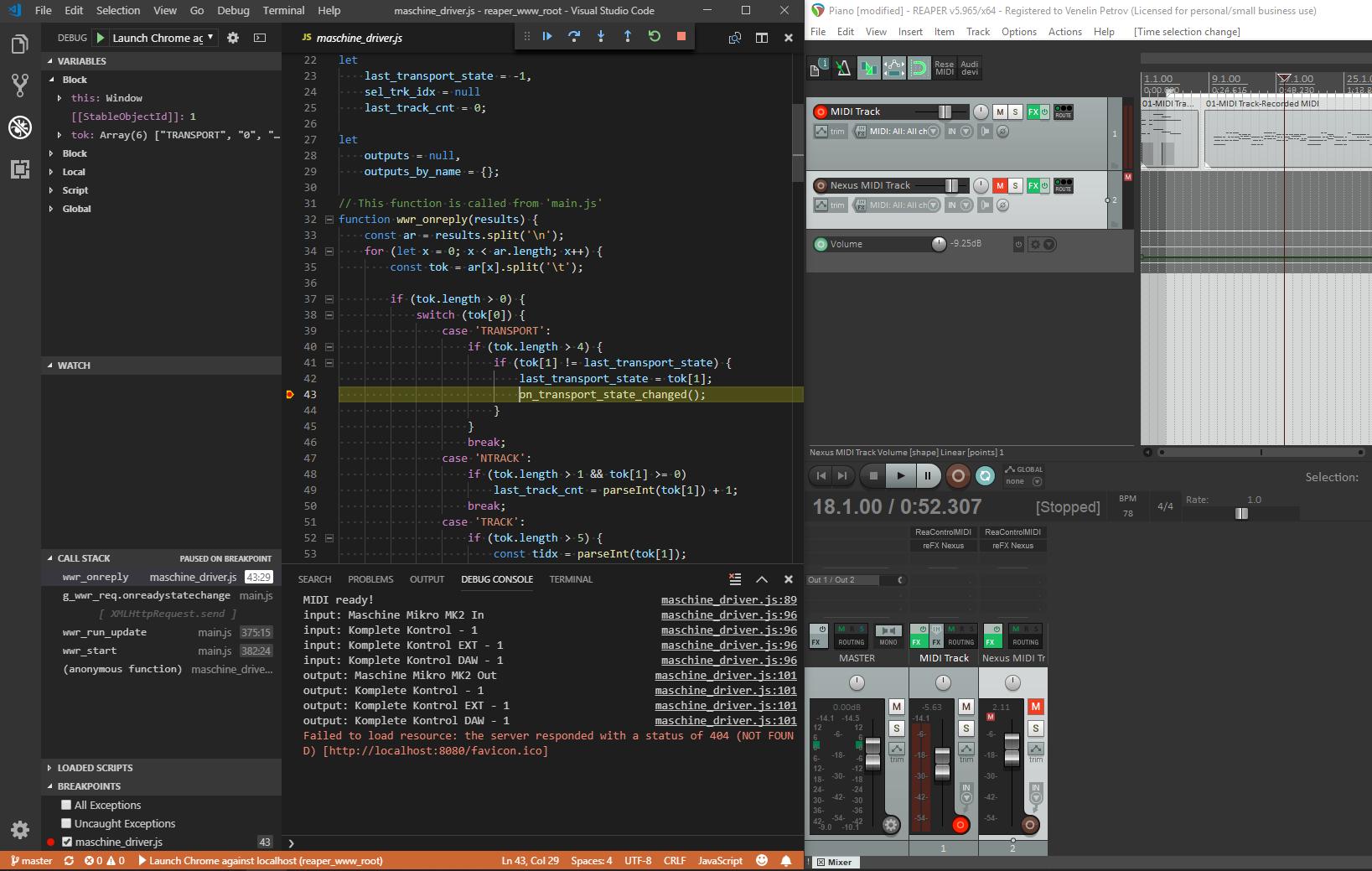 GitHub - venelinpetrov/reaper-control-surface-driver: Example MIDI