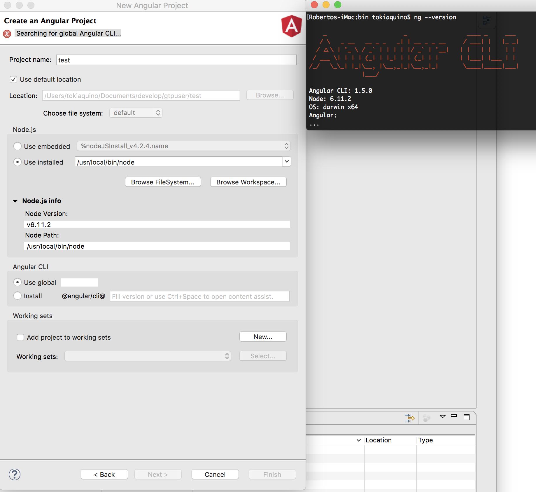 install angular 2 cli globally