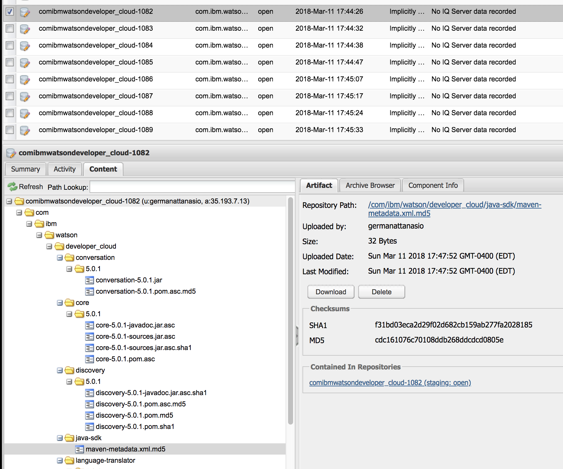Multiple deployments to sonatype for the same repository · Issue