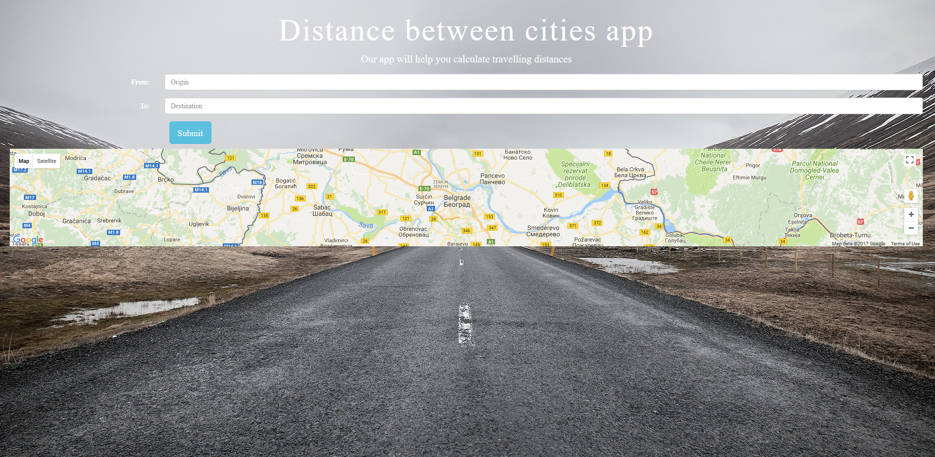 github tacic distance calculator calculates distance in km and