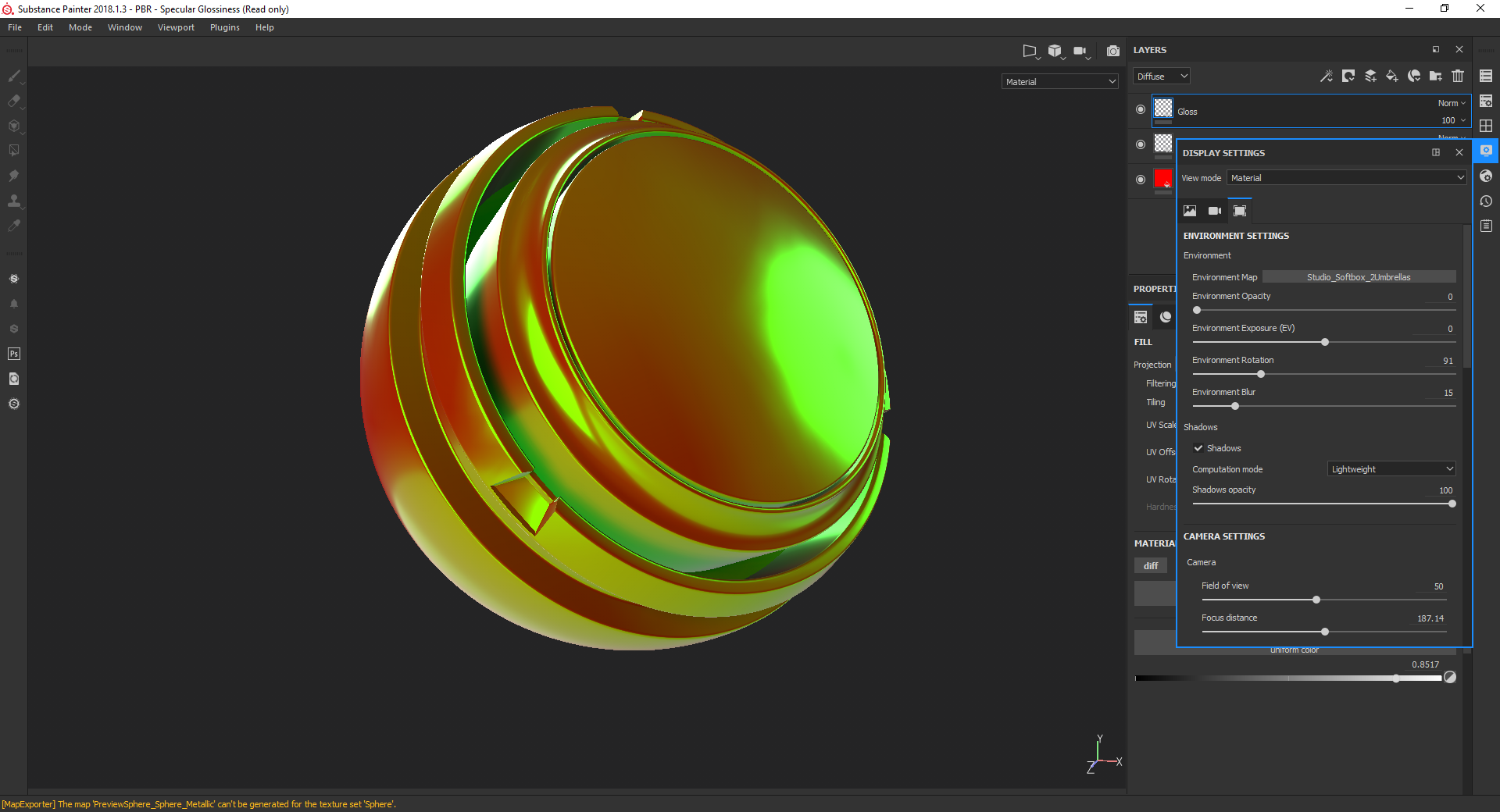 Spec/Gloss different in Substance Painter, no max statement · Issue