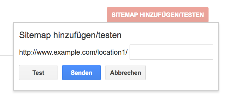 storage location of xml sitemap should be freely determinable
