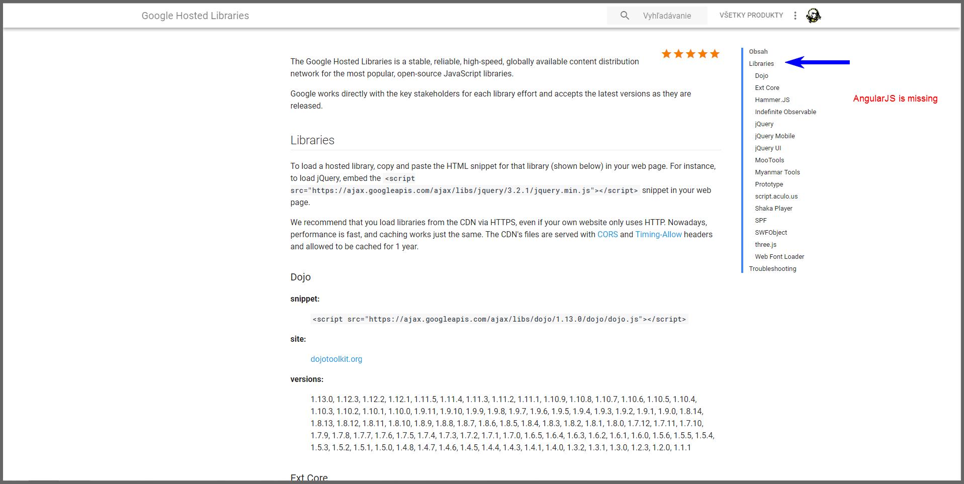 CDN] Google Hosted Libraries still offer angular 1 6 4 as the newest