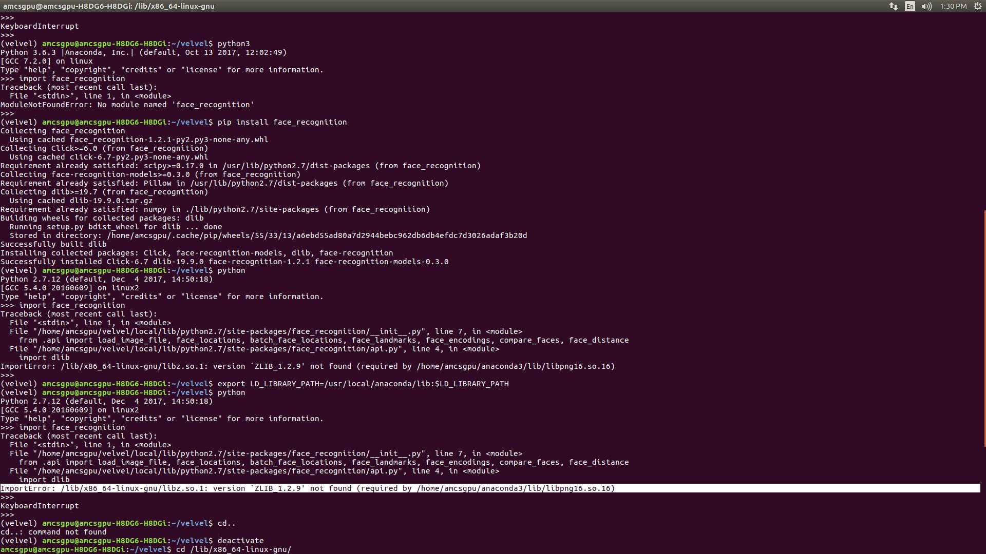 Install zlib 1 2 9 ubuntu   Installing zlib through source