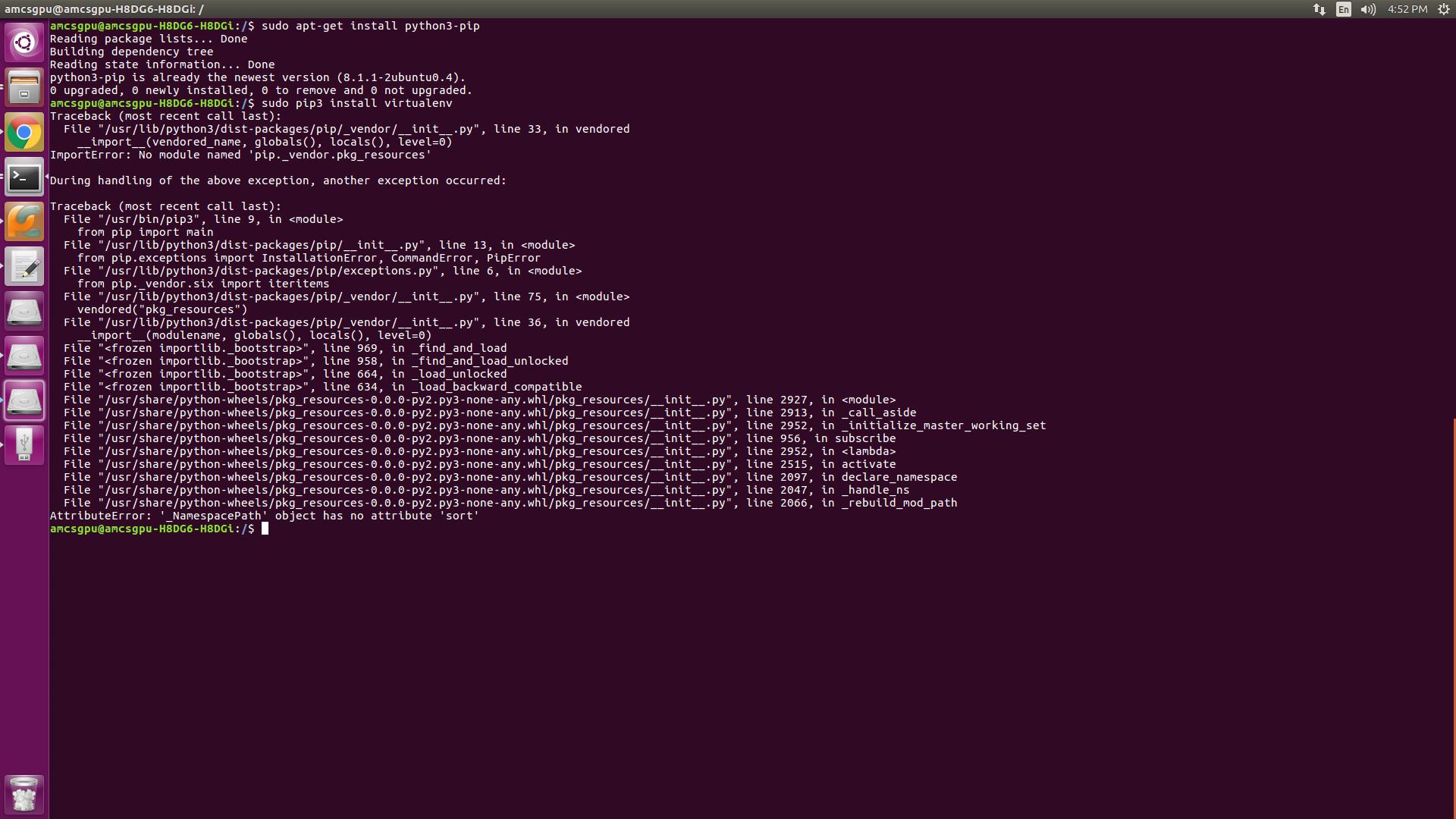 ubuntu install pip3