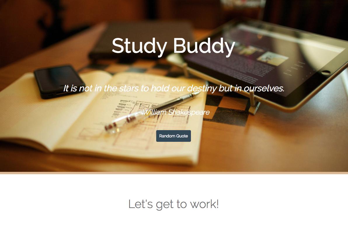 GitHub - mariela2p/StudyBuddy: Group Project#1 Coding