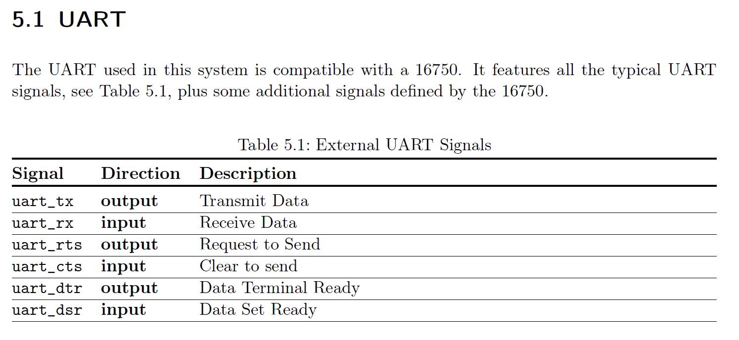 need more clarification on UART · Issue #138 · pulp-platform