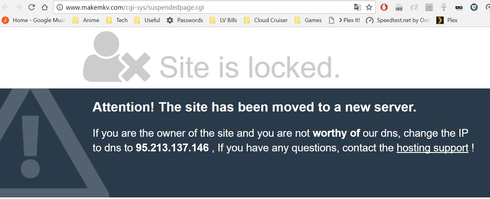 makemkv no longer works and website down · Issue #162