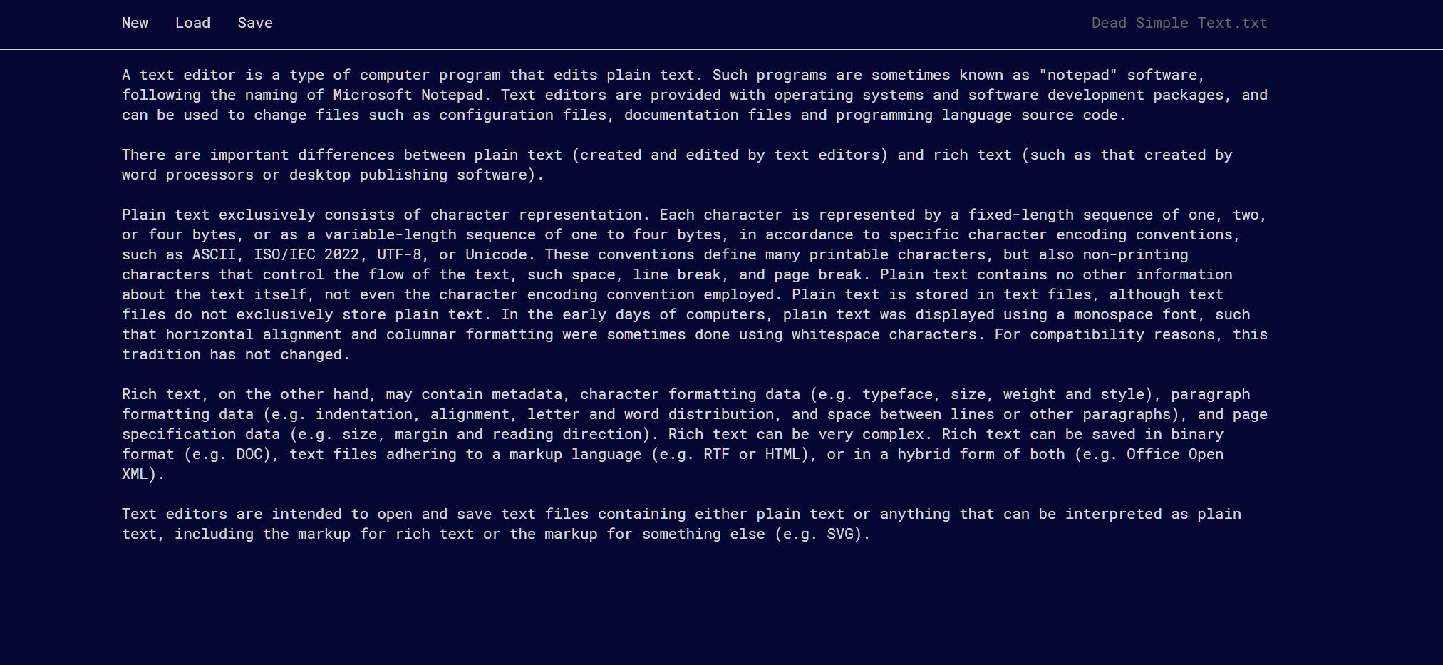 GitHub - jbreckmckye/dead-simple-text: Minimalist plain text editor