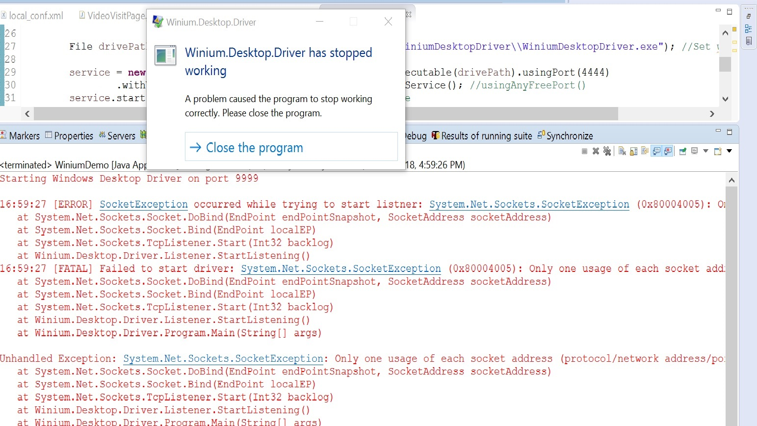 WiniumDriverService is not working · Issue #105 · 2gis/Winium