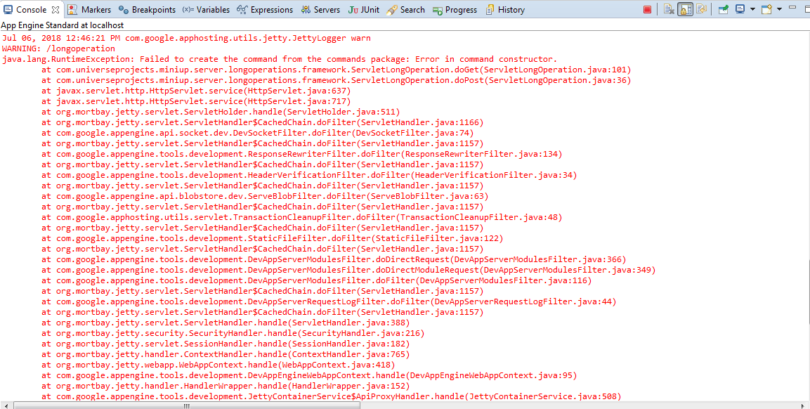 Im Using Eclipse Oxygen2 And There Are No Hyperlinks In Stacktraces