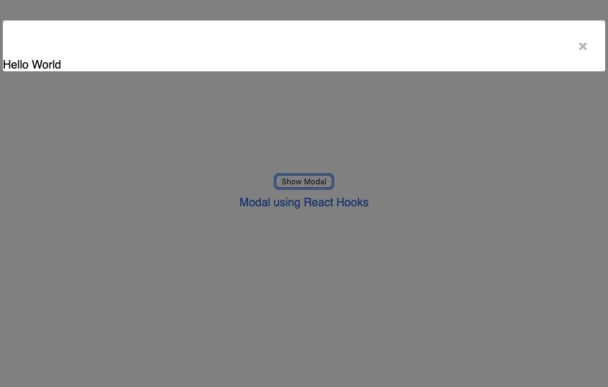 Modal Hooks