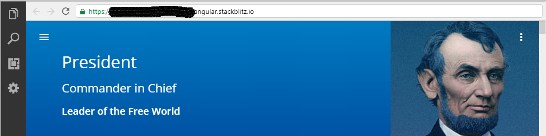 Hide Preview URL doesn't work for embedded stackblitz links  · Issue