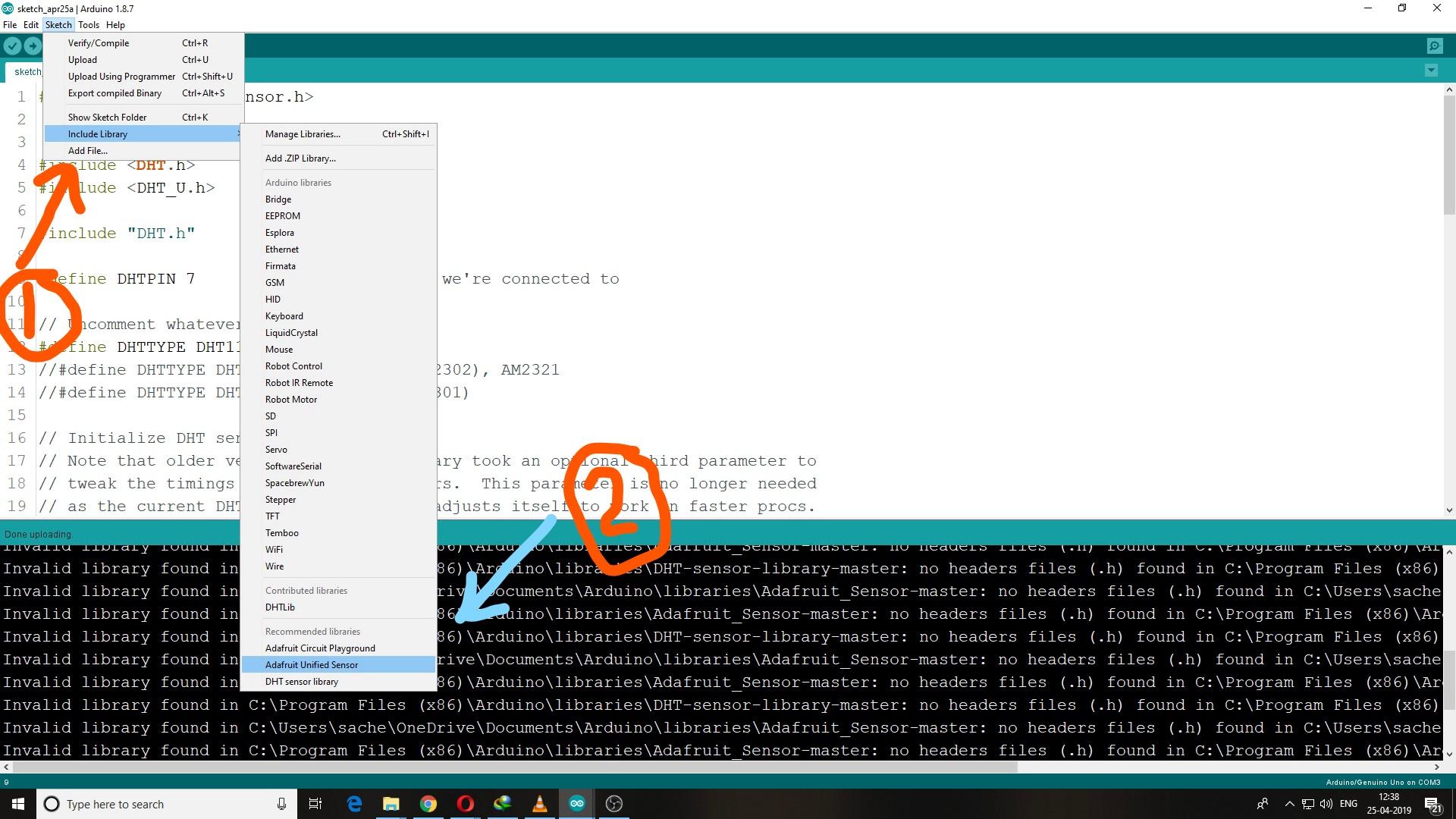 Cannot Compile Fatal Error Adafruit Sensor H No Such File Or Directory Issue 42 Azure Samples Iot Hub C M0wifi Getstartedkit Github