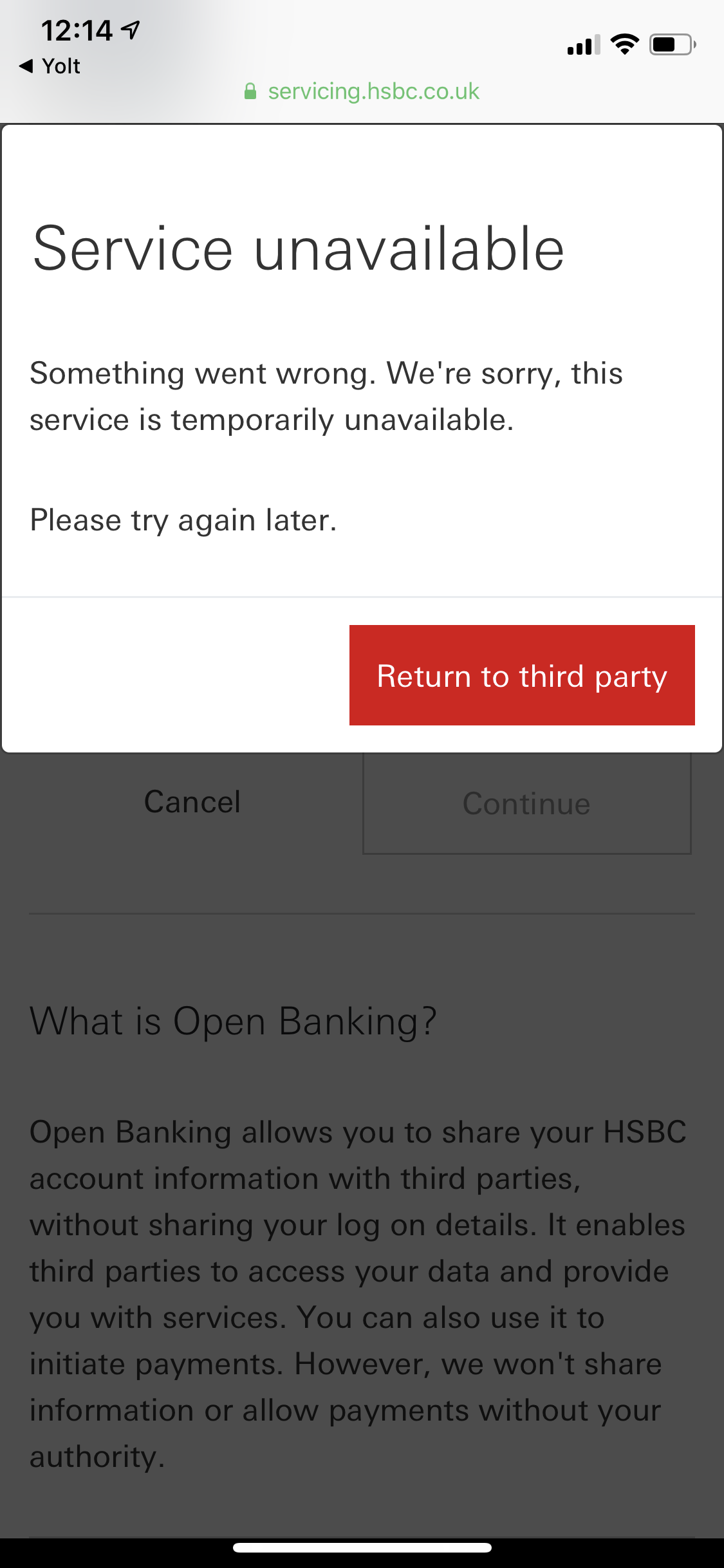 HSBC business openbanking seems to be down · Issue #57