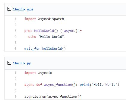 Python Versus Nim: Async · GitHub