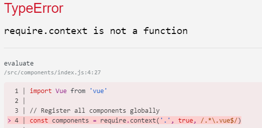 Add require context for Vue automatic global component