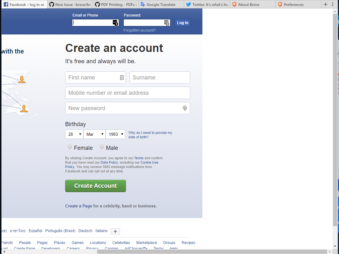 Lastpass form fill does not appear in Twitter, Facebook and