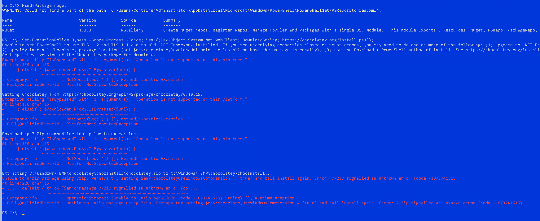 Support Windows Nano Server · Issue #1371 · chocolatey/choco · GitHub