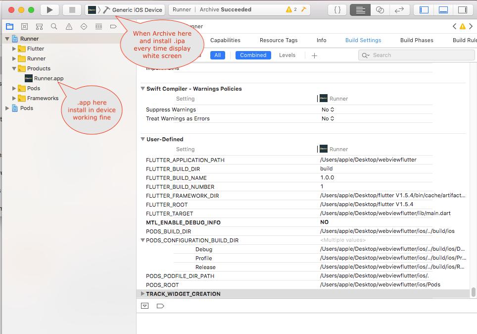 Error creating IOS version to upload to Testflight  · Issue