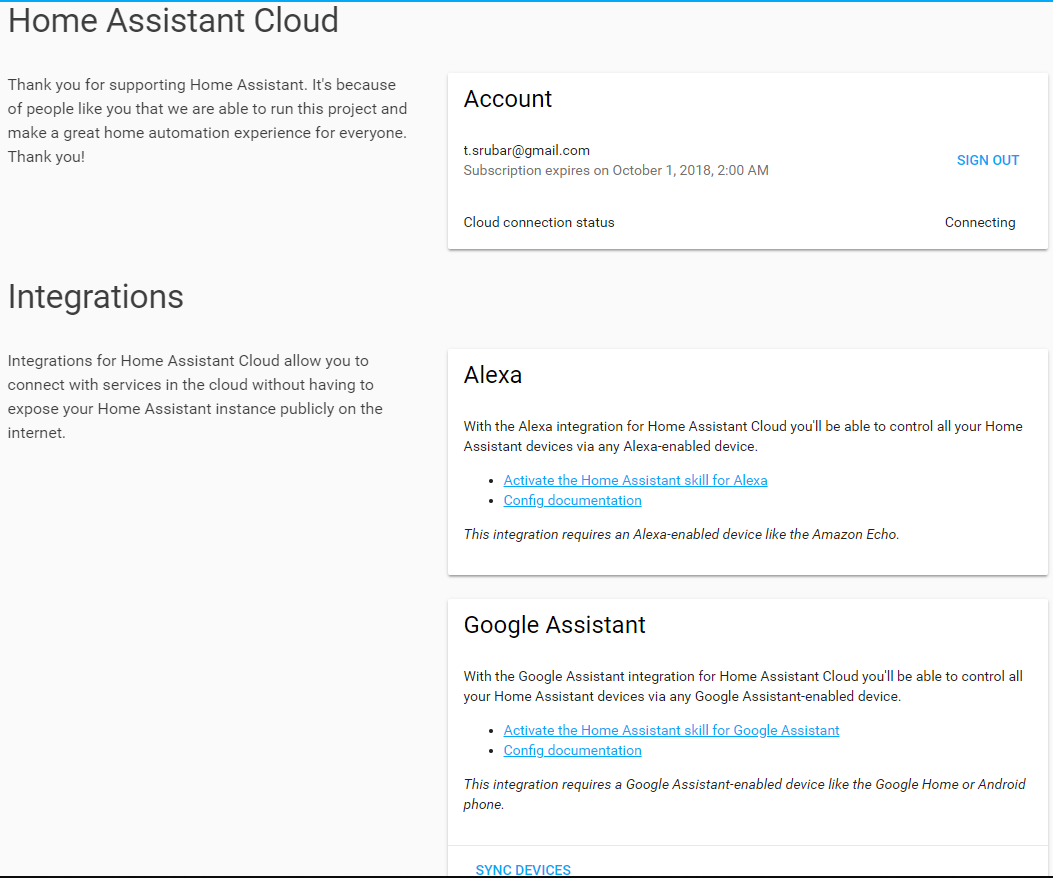 Problem with connecting to Home Assistant cloud · Issue #16469
