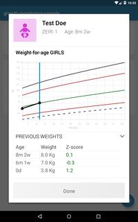 Weight Graph Screenshot