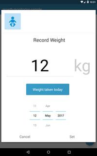 Record Past Weight Screenshot