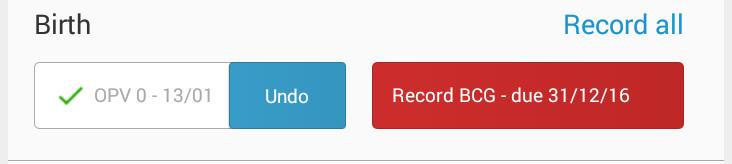 Undo button Screenshot