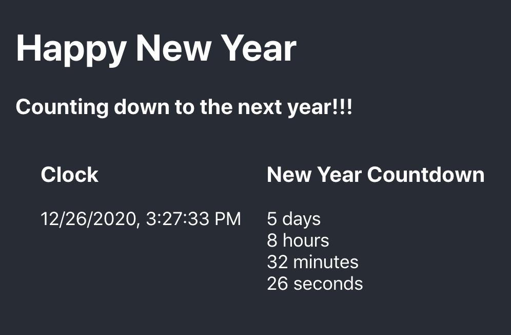 Happy New Year App