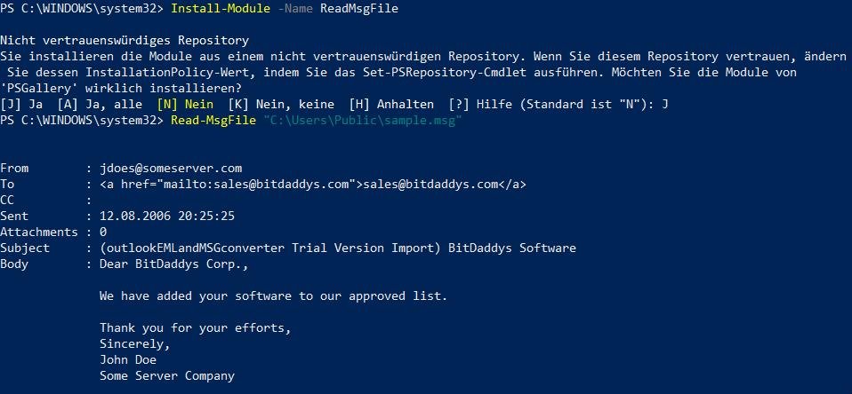 GitHub - datenteiler/ReadMsgFile: Read Outlook MSG files
