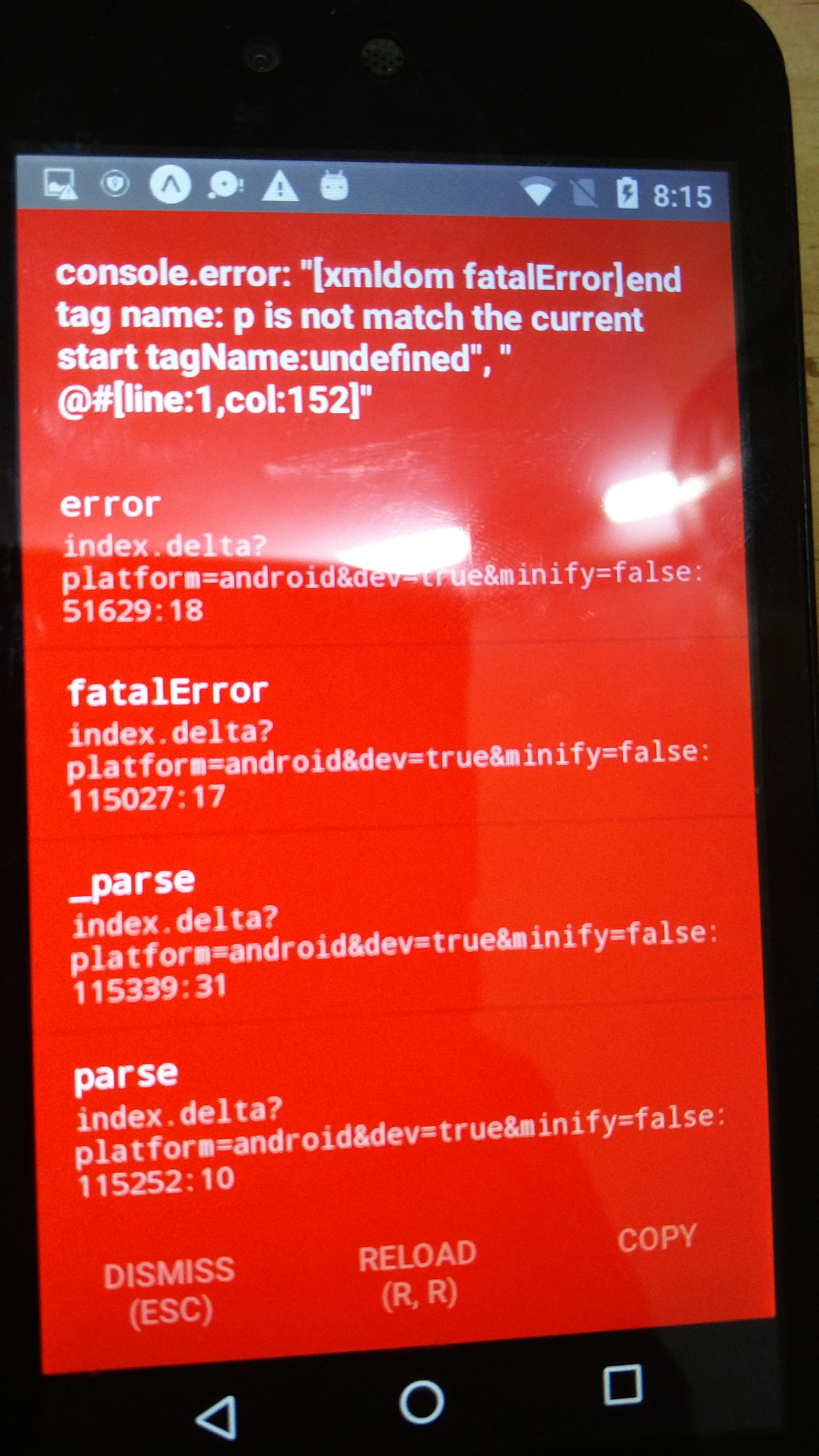 XML DOM error while parsing HTML string · Issue #10 · g6ling
