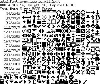 U8g2 Icon Font