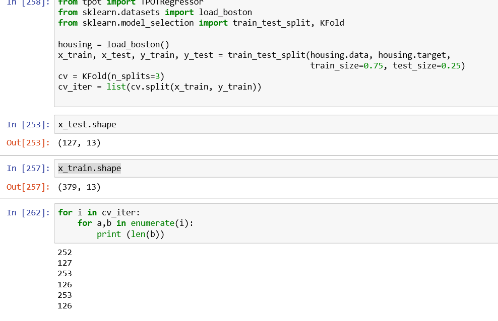 Cross validation parameter bug in TPOTRegressor using iterable