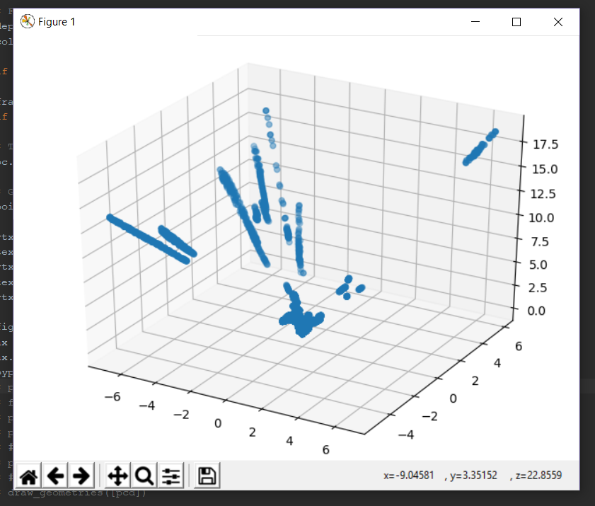 pyrealsense2: 'pc_calculate' only returns part of point cloud