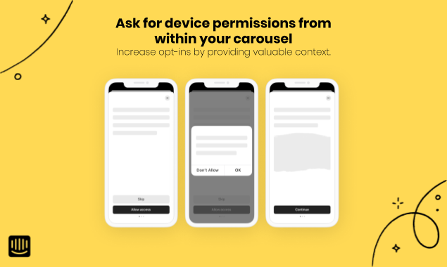 Carousel - Permissions - iOS - Yellow