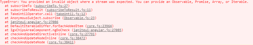 Filtering Error  You provided an invalid object where a