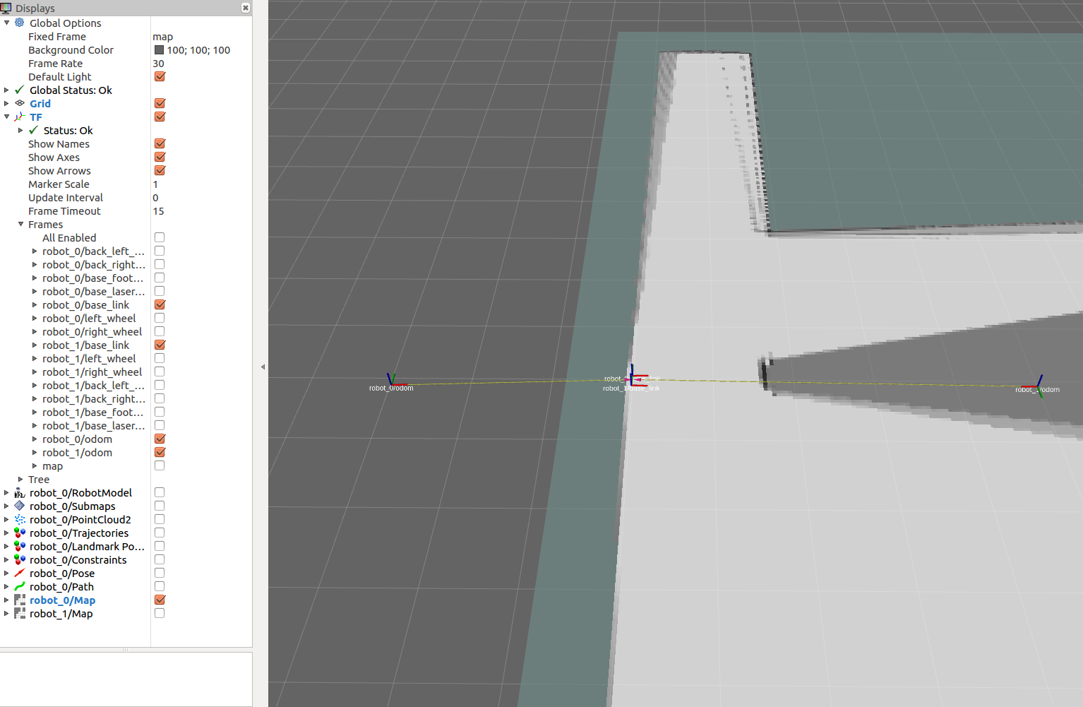 Running cartographer on several simulated gazebo robots · Issue