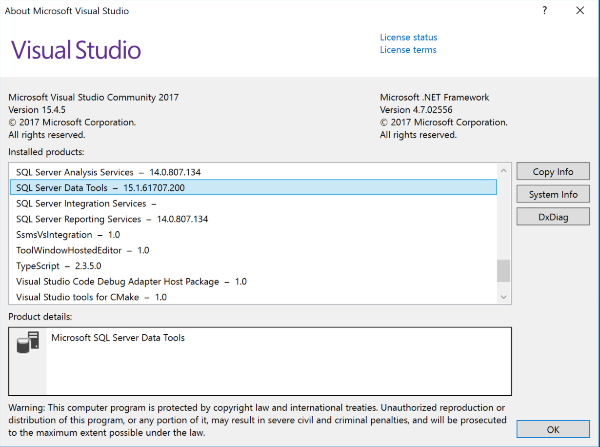 Wrong ProjectVersion (and project structure) on VS 2017 +