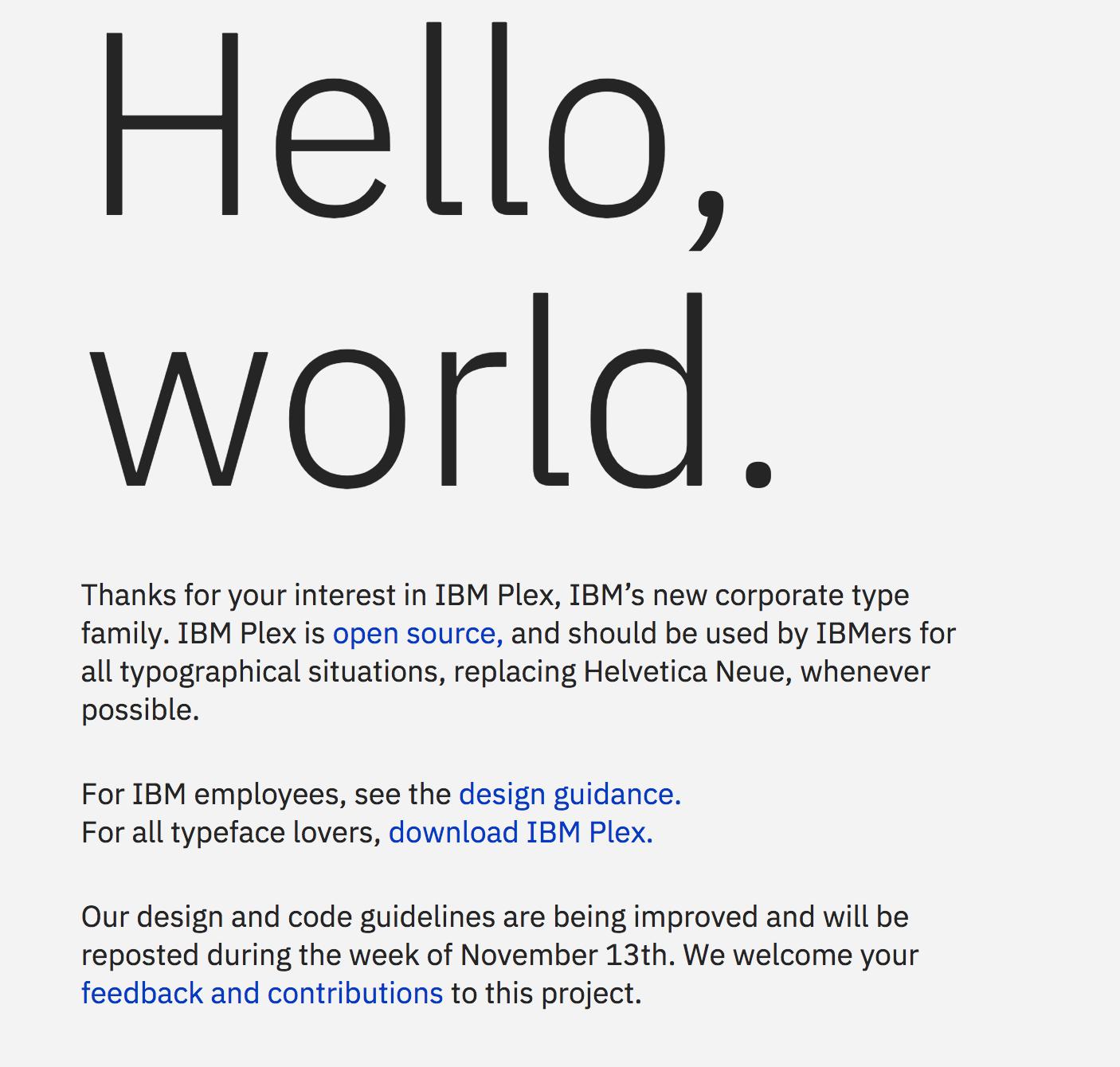 website disabled? · Issue #67 · IBM/plex · GitHub