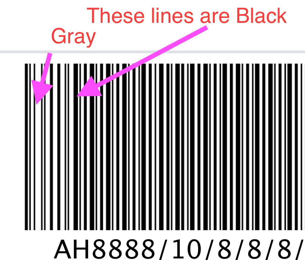 Generated barcode will causes dithering when using Code128 for a